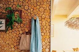 отделка стен деревом внутри дома фото